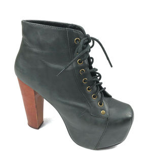 JEFFREY CAMPBELL LITA ankle boots 6 black platform